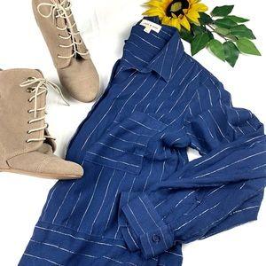 Cloth & Stone Blue Nova Roll Sleeve Button Down